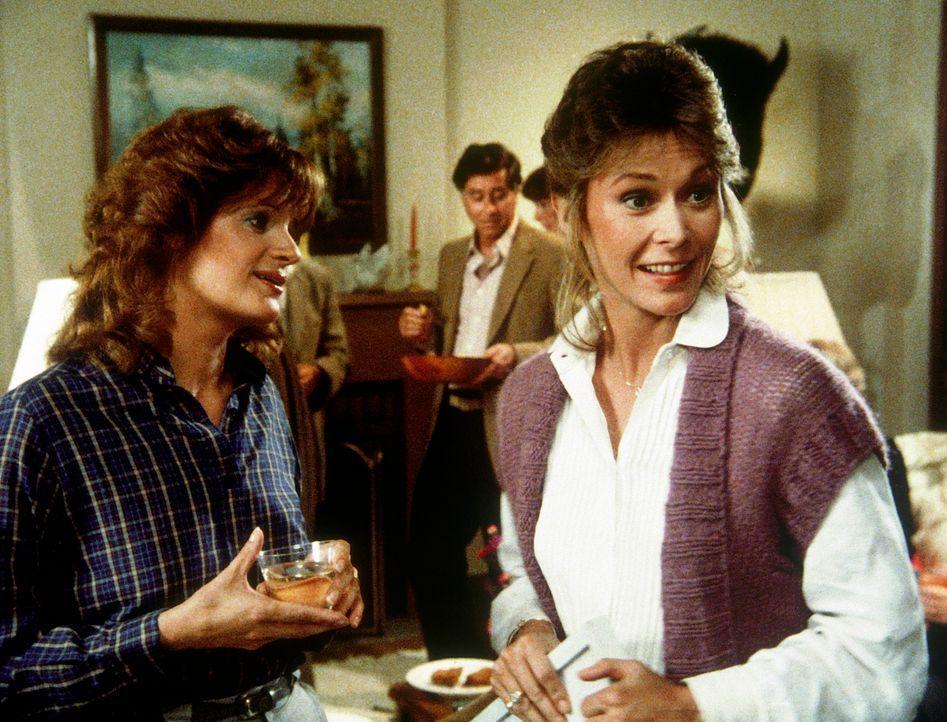 Amanda (Kate Jackson, r.) im Kreis ihrer neuen Nachbarn: Niemand ahnt, dass sie für den Geheimdienst arbeitet. - Bildquelle: CBS Television