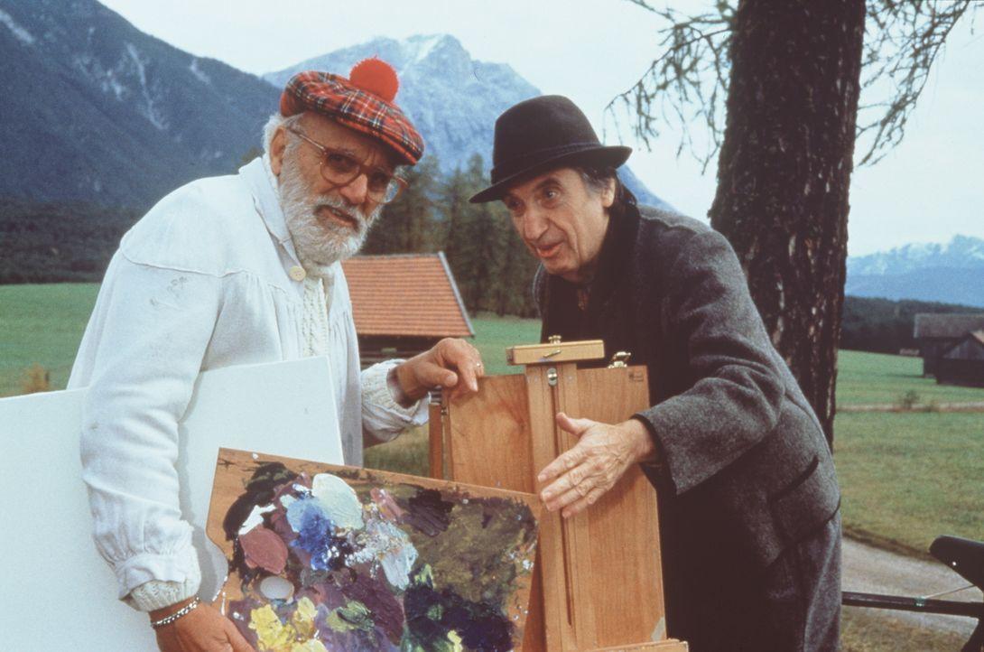 Ettore (Remo Remotti, l.);  Herr Konrad (Herbert Fux, r.) - Bildquelle: Beta Film GmbH