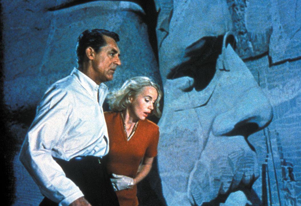 Roger Thornhill (Cary Grant, l.); Eve Kendall (Eva Marie Saint , r.) - Bildquelle: Warner Brothers