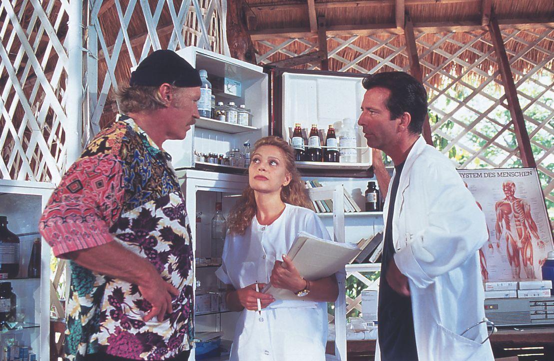 (v.l.n.r.) Heiner Müller (Raimund Harmstorf); Dr. Juliane Rohrbach (Julia Kent); Dr. Christian Witt (Hans Schenker) - Bildquelle: Lisa Film