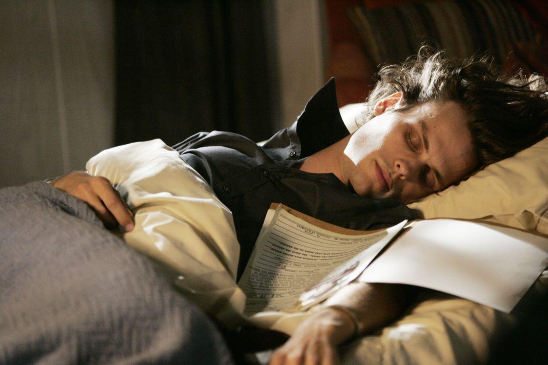 Ihn plagen Träume, die aus seinem Unterbewusstsein kommen und mit einem neuen Fall korrespondieren: Reid (Matthew Gray Gubler) ... - Bildquelle: Vivian Zink 2008 ABC Studios. All rights reserved. NO ARCHIVE. NO RESALE. / Vivian Zink