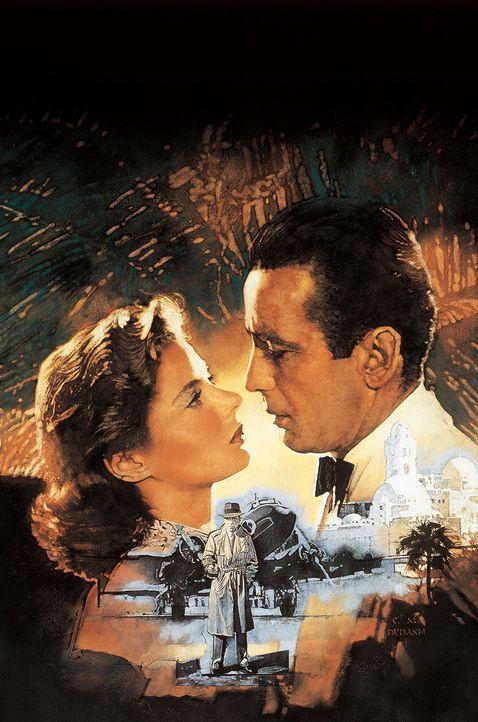 """""""Ich schau Dir in die Augen, Kleines"""" - mit Ingrid Bergman, l. und Humphrey Bogart, r. - Bildquelle: Warner Bros. Television"""