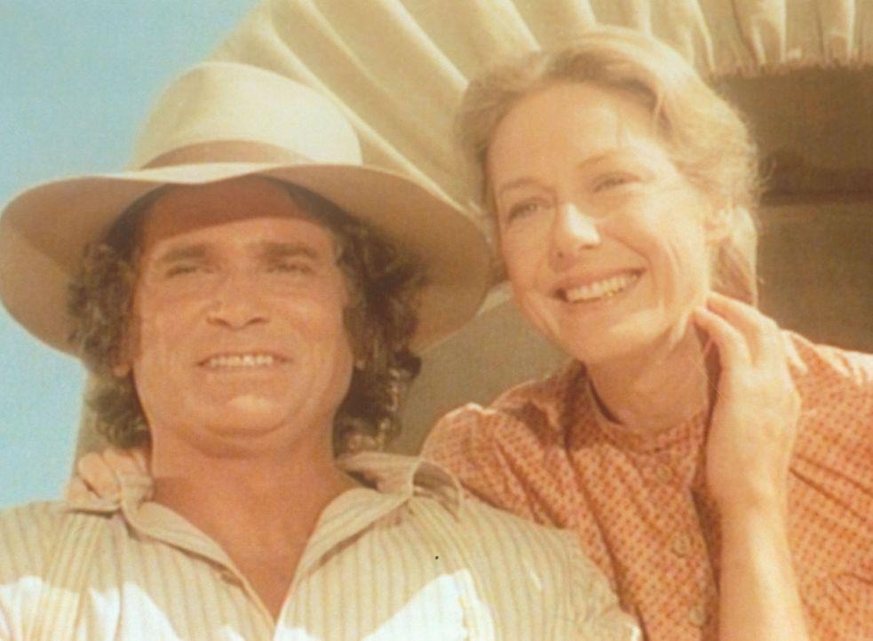 Charles (Michael Landon, l.) und Caroline (Karen Grassle, r.) wollen einen Neuanfang wagen. - Bildquelle: Worldvision