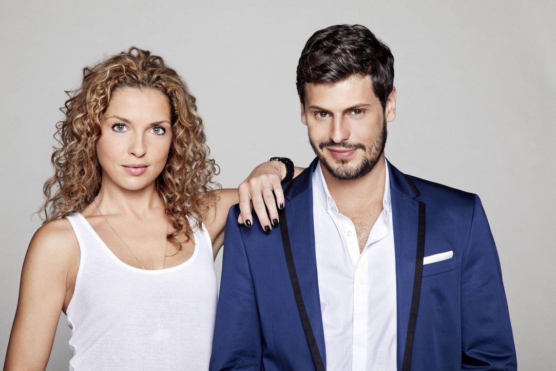 Werden Luca (Manuel Cortez, r.) und Nina (Maria Wedig, l.) zusammenfinden? - Bildquelle: Bernd Jaworek SAT.1