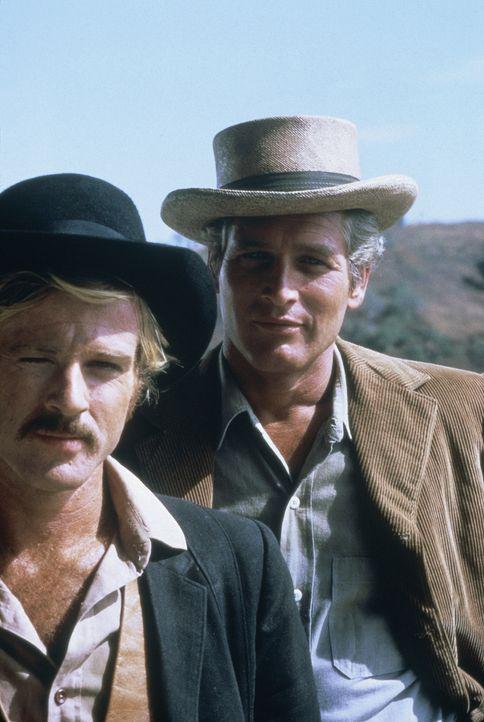 Butch Cassidy (Paul Newman, r.) und Sundance Kid (Robert Redford, l.), zwei berüchtigte Banditen der Jahrhundertwende, planen ihren bislang größten... - Bildquelle: Twentieth Century-Fox