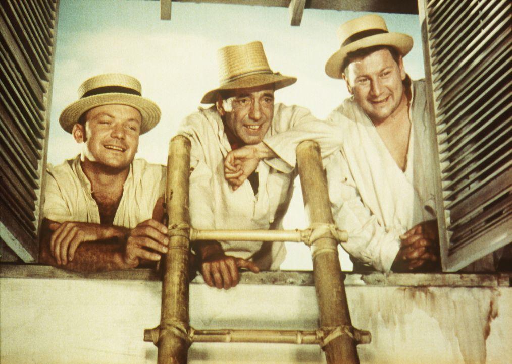 Am Weihnachtsabend gelingt den drei zu lebenslänglicher Haft verurteilten Gaunern Joseph (Humphrey Bogart, M.), Albert (Aldo Ray, l.) und Jules (Pet... - Bildquelle: Paramount Pictures
