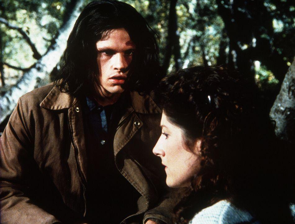 Julian Bradley (Jeff Kober, l.) und die blinde Rachel McCulloch (Annabelle Price, r.) schließen Freundschaft. - Bildquelle: Worldvision Enterprises, Inc.