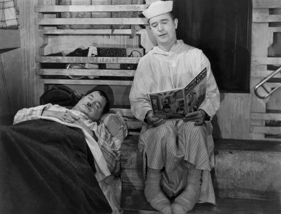 Ollie (Oliver Hardy, l.); Stan (Stan Laurel, r.) - Bildquelle: United Artists