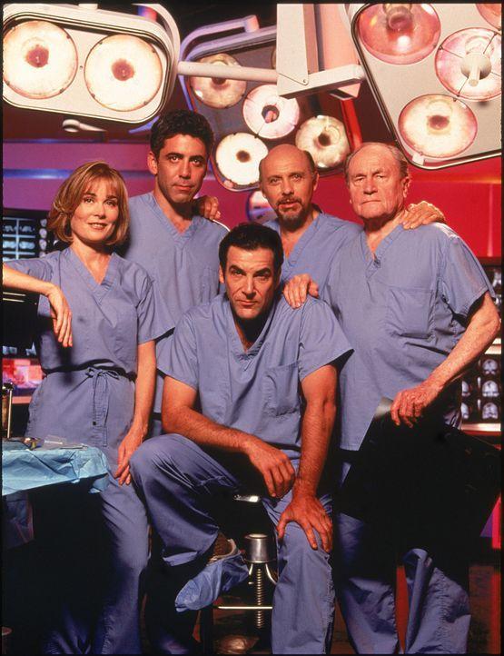 (v.l.n.r.) Camille Shutt (Roxanne Hart); Dr. Aaron Shutt (Adam Arkin); Dr. Jeffrey Geiger (Mandy Patinkin); Dr. Phillip Watters (Hector Elizondo); D... - Bildquelle: 1994-1995 Twentieth Century Fox Film Corporation.  All rights reserved.