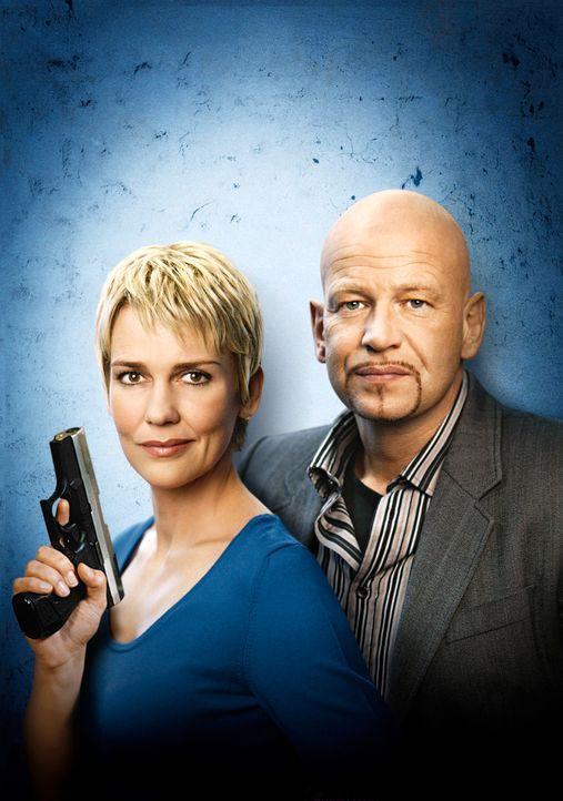 Die Kommissare Alexandra Rietz (l.) und Michael Naseband (r.) - Bildquelle: Holger Rauner Sat.1