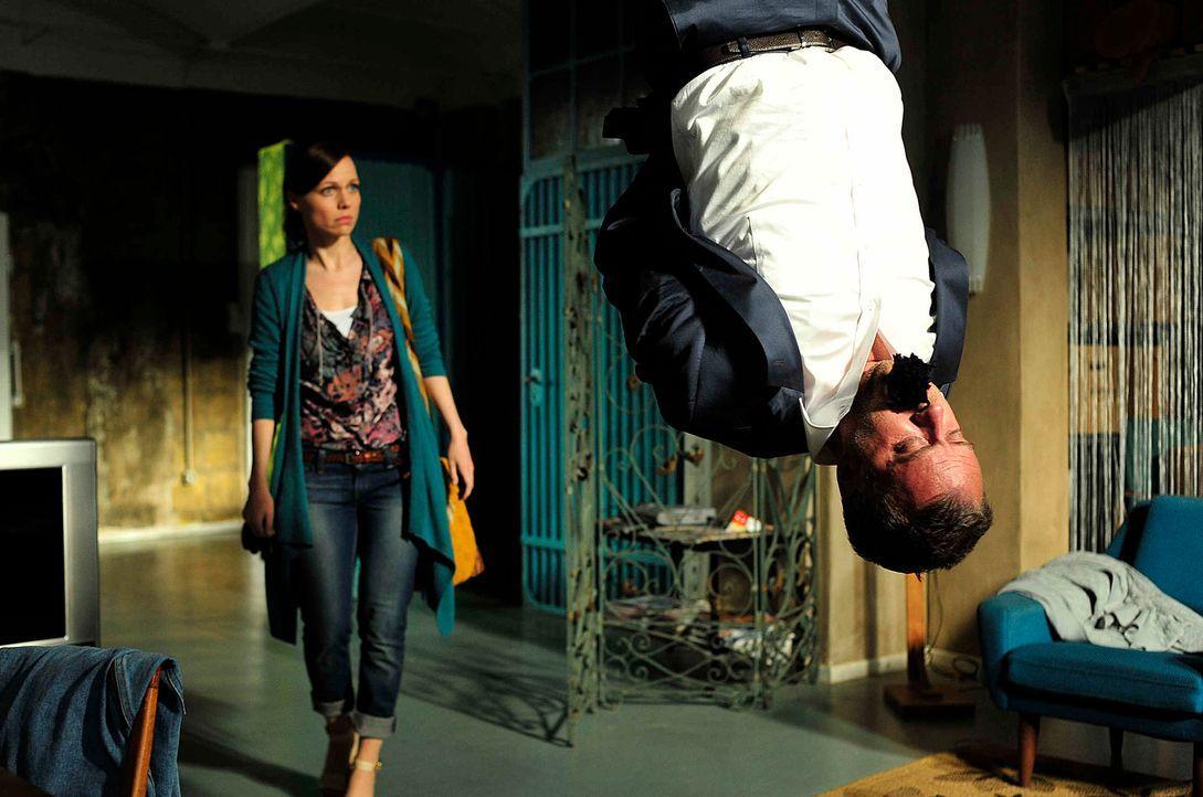 In der letzten Zeit wird Marion (Nadja Becker) nicht gerade vom Glück verfolgt. Ihr Ex-Mann Felix (André Röhner ) will ihr die Kinder wegnehmen, zah... - Bildquelle: Oliver Feist SAt.1