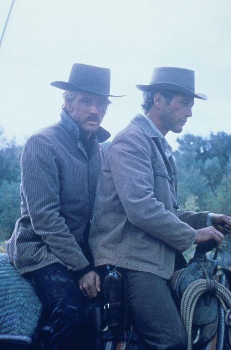 Nachdem ihr zweiter Coup gescheitert ist, beginnt für Butch Cassidy (Paul Newman, r.) und Sundance Kid (Robert Redford, l.) eine furiose und abenteu... - Bildquelle: Twentieth Century-Fox