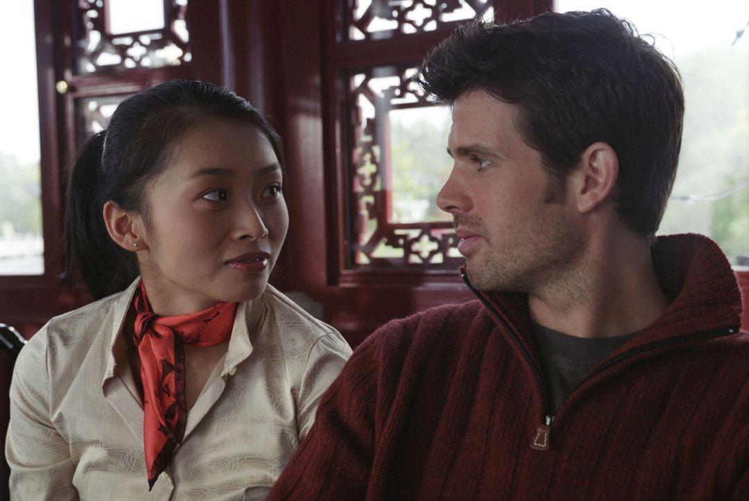 Dingding (Linda Chang, l.) und Tommi (Steffen Groth, r.) kommen sich langsam näher ... - Bildquelle: Wolfgang Jahnke Sat.1