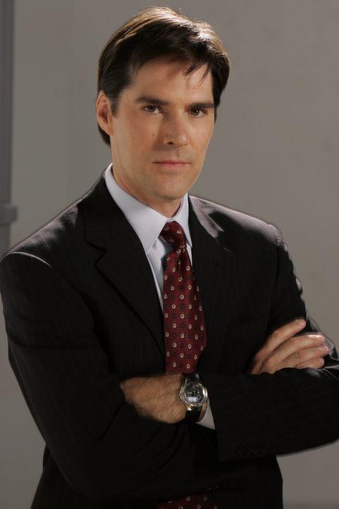 (4. Staffel) Sorgt für Gerechtigkeit: Agent Aaron Hotchner (Thomas Gibson) ... - Bildquelle: Cliff Lipson 2008 Touchstone Television. All rights reserved. NO ARCHIVE. NO RESALE. / Cliff Lipson